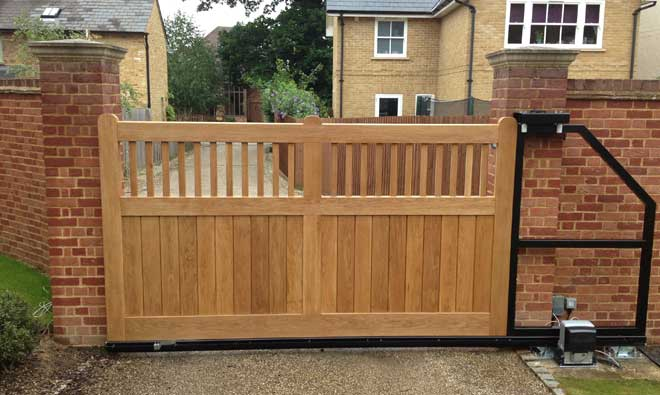 Wooden Electric Gates In Essex Traditional Style Modern Automation